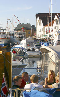 There are many celebrations which fill the harbour each summer - Gladmat is one of the best